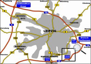 Anfahrt Klaus Hoffmann Werksvertretung Leipzig Liebertwolkwitz Autobahn